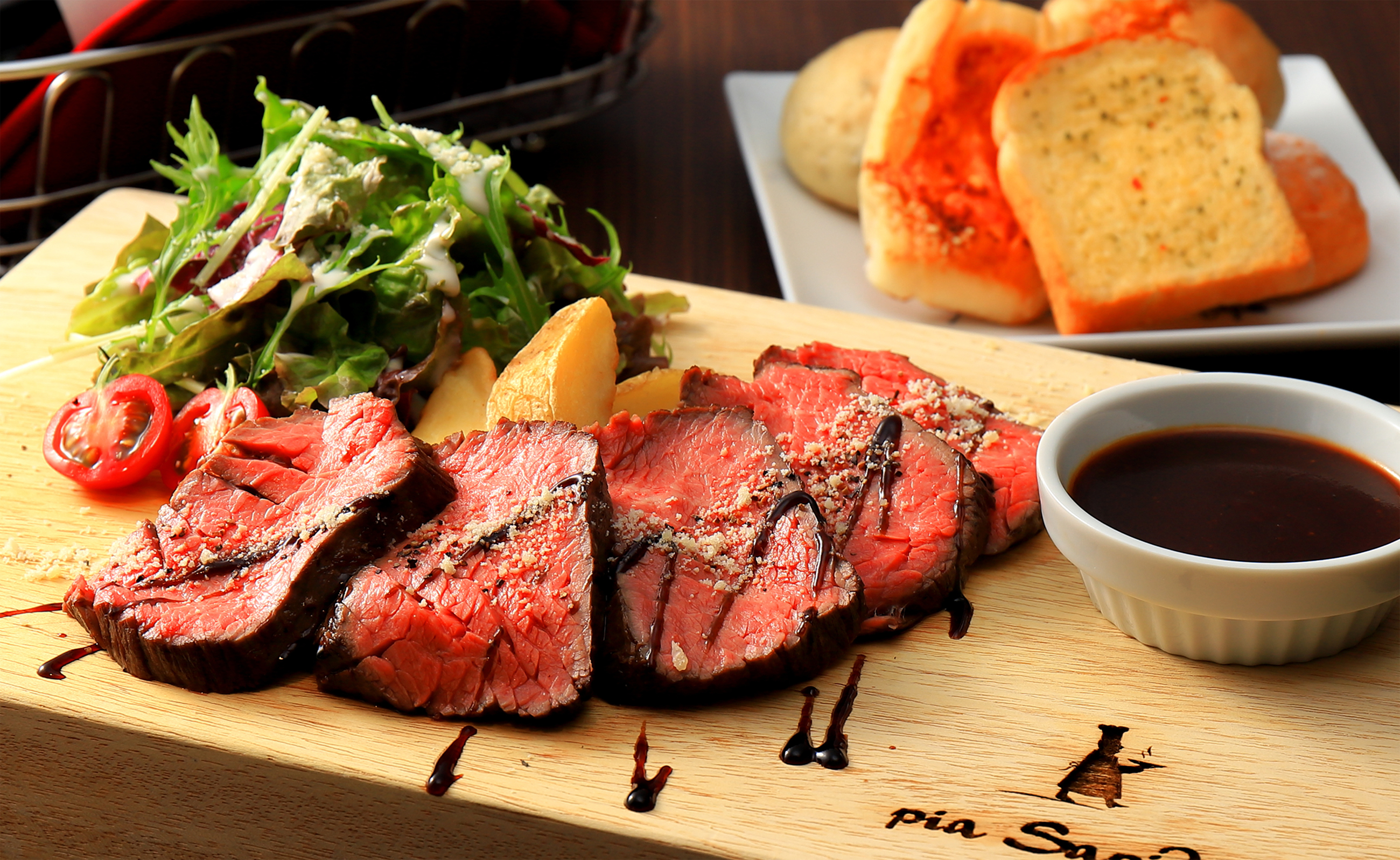 希少部位カイノミ牛肉のステーキ